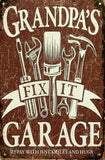 Dads Garage tin metal sign MAN CAVE brand new
