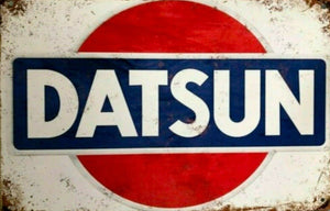 Datsun Nissan tin metal sign MAN CAVE brand new free post