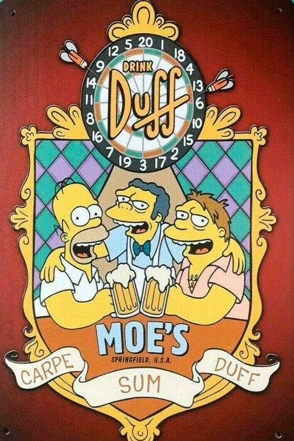 Drink Duff Beer new tin metal sign MAN CAVE