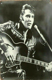 Elvis Presley Black and White Tin metal sign MAN CAVE rock n roll