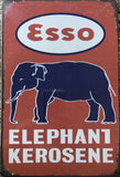 Esso KEROSENE Motor Oil Rustic Vintage Metal Tin Sign Man Cave,Garage Shed and Bar