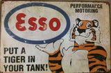 Esso Motor Oil Rustic Vintage Look Metal Tin Sign Man Cave,Garage Shed and Bar