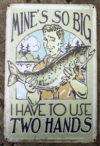 FISHING Garage Rustic Vintage Metal Tin Signs Man Cave, Shed and Bar Sign