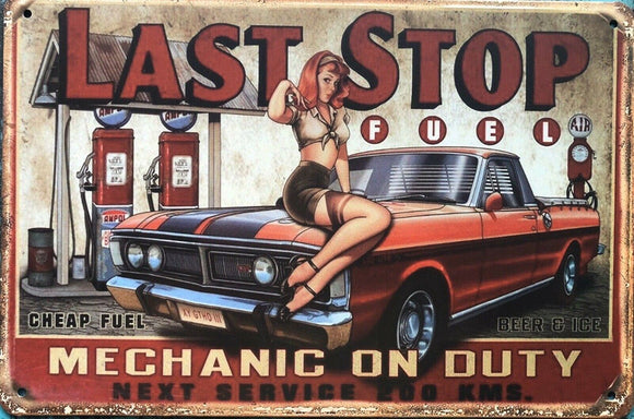 FORD Pin Up Girl Garage Rustic Vintage Metal Tin Sign Man Cave,Shed Bar