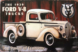 FORD V8 TRUCKS Garage Rustic Vintage Metal Tin Sign Man Cave,Shed Bar