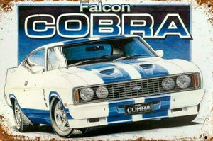 Falcon Cobra new tin metal sign MAN CAVE