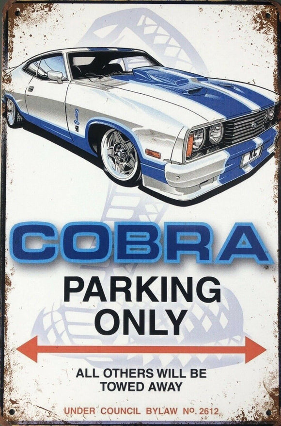 Ford Cobra Parking Only Garage Rustic Vintage Metal Tin Sign Man Cave,Shed and Bar