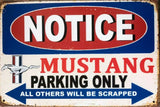 Ford Mustang pony parking only tin metal sign MAN CAVE brand new free postage