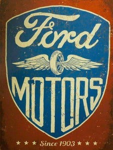 Ford motors since 1903 windsor cleveland v8 tin metal sign brand new 40x30cm