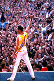 Freddie Mercury on stage Queen brand new tin metal sign MAN CAVE rock n roll