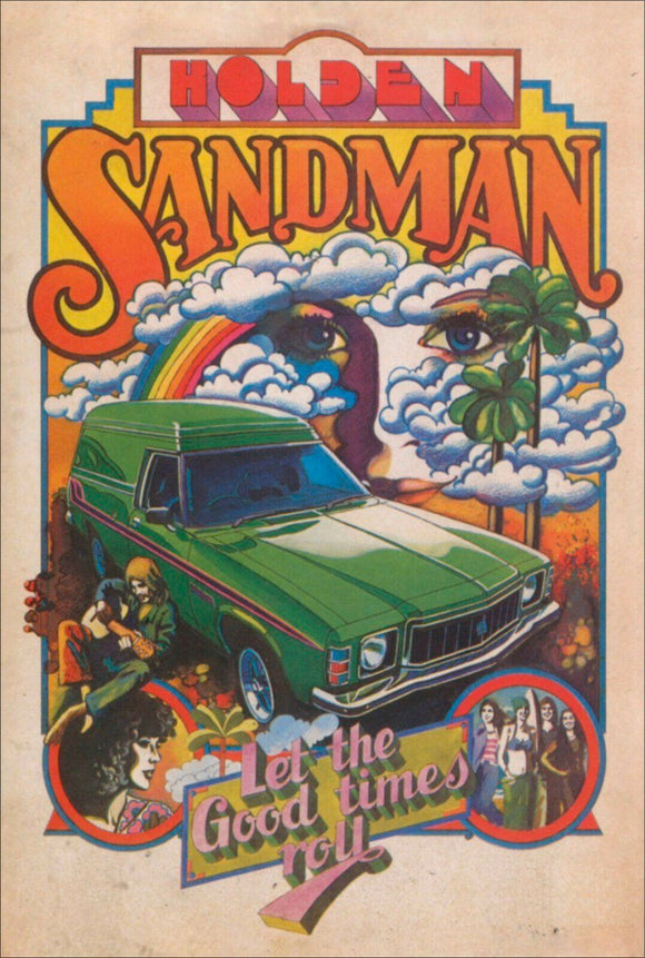 GMH Holden Sandman Panel van tin metal sign MAN CAVE brand new