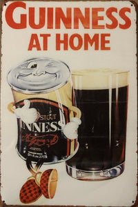 GUINNESS Beer Rustic Vintage Garage Metal  Tin Signs Man Cave, Shed and Bar Sign