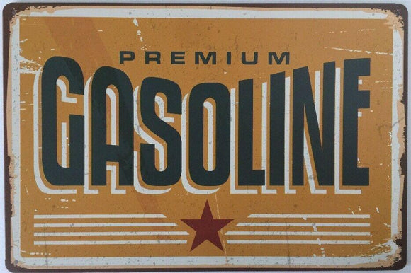 Gasoline Garage Rustic Vintage Metal Tin Signs Man Cave Shed and Bar Sign