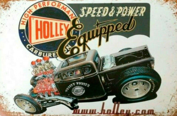 Holley Hotrod tin metal sign MAN CAVE brand new