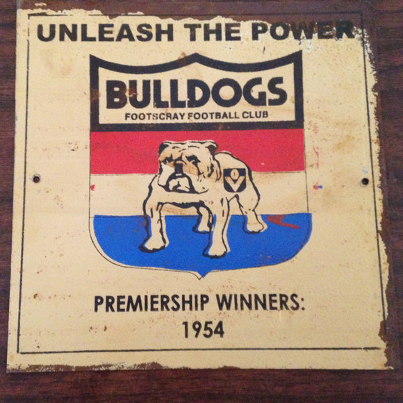 Bulldogs Football Club Metal Sign 20x 20 cm - TinSignFactoryAustralia