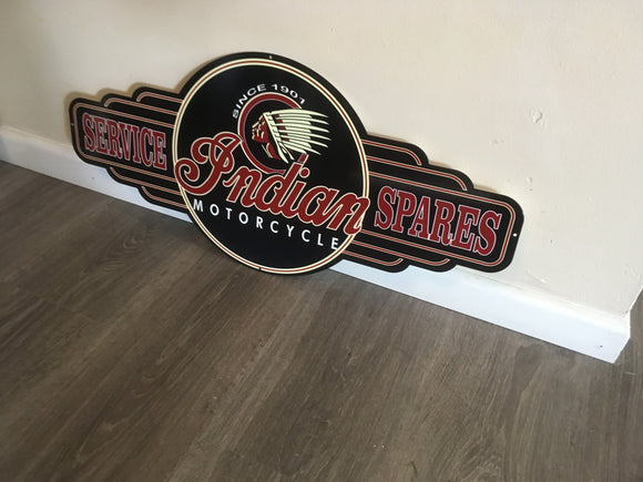 Indian  Service and Spares metal tin sign bar garage Free Postage Buy me - TinSignFactoryAustralia