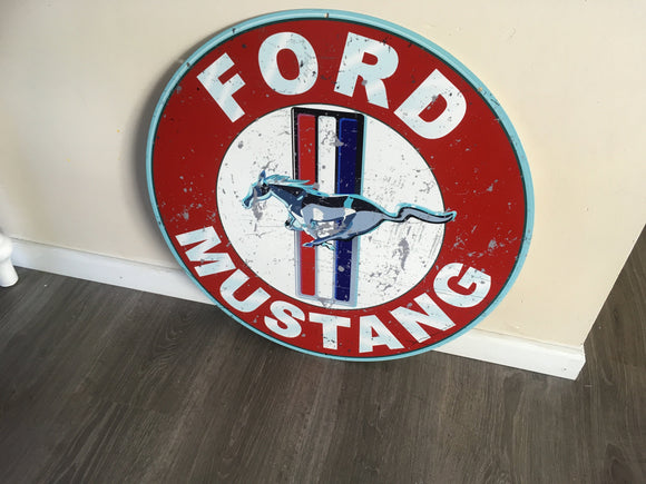 A Ford Mustang Metal  sign Man cave bar  Free postage Australia wide - TinSignFactoryAustralia