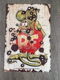 Rat Fink Metal metal  sign  bar garage shed man cave free postage