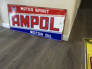 Ampol  Motor Oil Metal  Sublimated  All Quality  Reproduction - TinSignFactoryAustralia