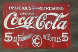 Coca cola  LARGE  metal tin sign bar garage Free postage Australia - TinSignFactoryAustralia