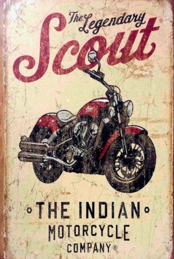 Indian motorcycles Scout brand new tin metal sign MAN CAVE