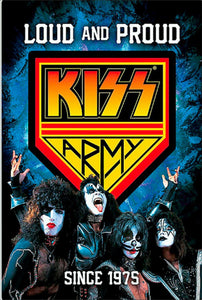 Kiss army rock n roll tin metal sign man cave new garage