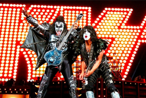 Kiss paul stanley gene simmons rock n roll tin metal sign man cave new