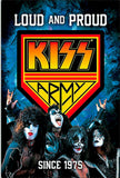 Kiss rock n roll 40 years tin metal sign man cave new