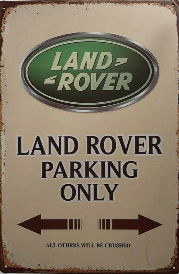 LAND ROVER Garage Rustic  Vintage Metal  Tin Signs Man Cave, Shed and Bar Sign
