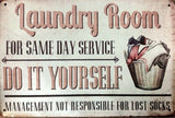 Laundry schedule new tin metal sign MAN CAVE
