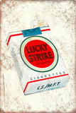 Lucky strike cigarettes vintage tin metal sign MAN CAVE brand new