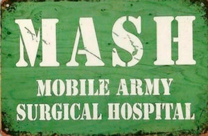 MASH Army tin metal sign MAN CAVE brand new