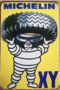 MICHELIN Tyres Rustic Vintage Look Metal Tin Sign Man Cave,Garage,Shed and Bar