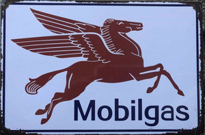 MOBILGAS Rustic Vintage Look Metal Tin Sign Man Cave,Garage,Shed and Bar