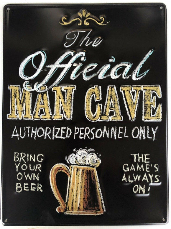 Man Cave Garage Rustic Vintage Metal  Tin Signs Man Cave, Shed and Bar 40cmX50cm