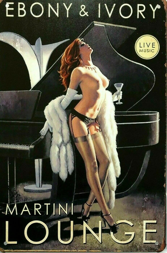 Martini Lounge new tin metal sign MAN CAVE