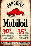 Mobil oil gargoyle brand new.  tin metal sign MAN CAVE
