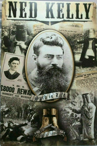 Ned Kelly Portrait new tin metal sign MAN CAVE