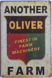 Oliver FARM Garage Rustic Vintage Metal  Tin Signs Man Cave, Shed and Bar Sign