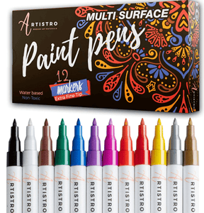 Paint Pens for Rock Painting Stone Ceramic Glass Wood 12 Acrylic Paint Markers