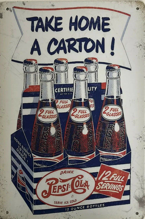 Pepsi Vintage Rustic Garage Metal Tin Signs Man Cave, Shed and Bar Sign