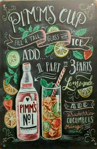 Pimm's Cup tin metal sign MAN CAVE brand new