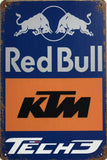 REDBULL KTM RACING Rustic Vintage Garage Metal  Tin Signs Man Cave, Shed and Bar