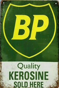 Rustic BP new tin metal sign MAN CAVE