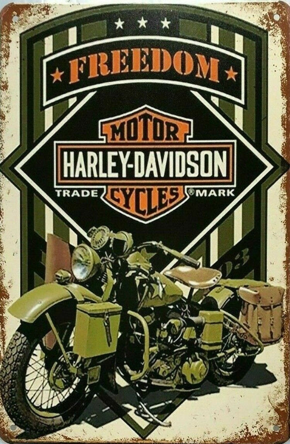 Rustic Harley Davidson Freedom new tin metal sign MAN CAVE