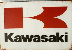 Rustic Kawasaki new tin metal sign MAN CAVE