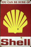 Rustic Shell Motor Oil tin metal sign MAN CAVE brand new