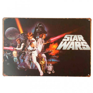 Rustic Star Wars new tin metal sign MAN CAVE