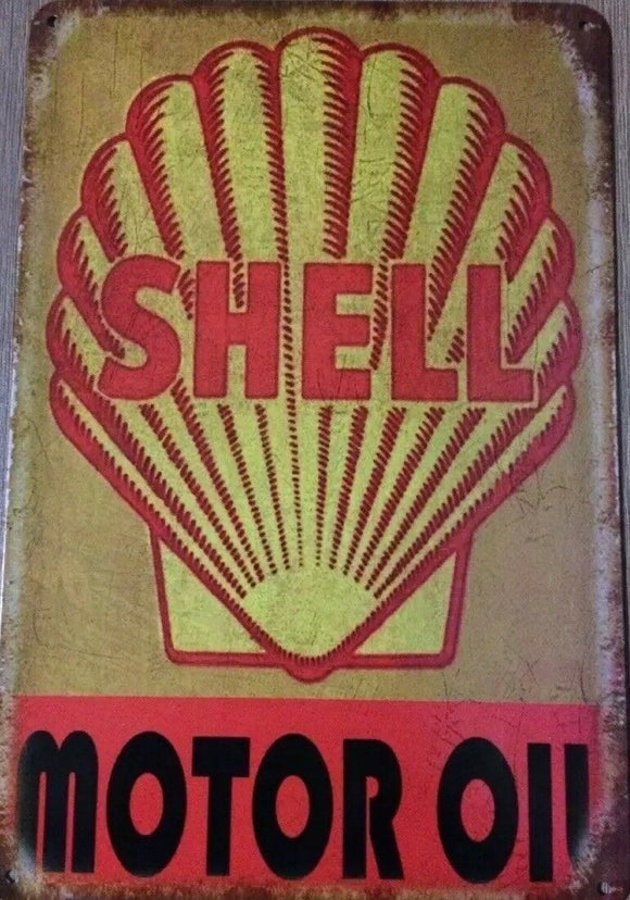 SHELL Garage Rustic Vintage Metal Tin Signs Man Cave, Shed and Bar Sign