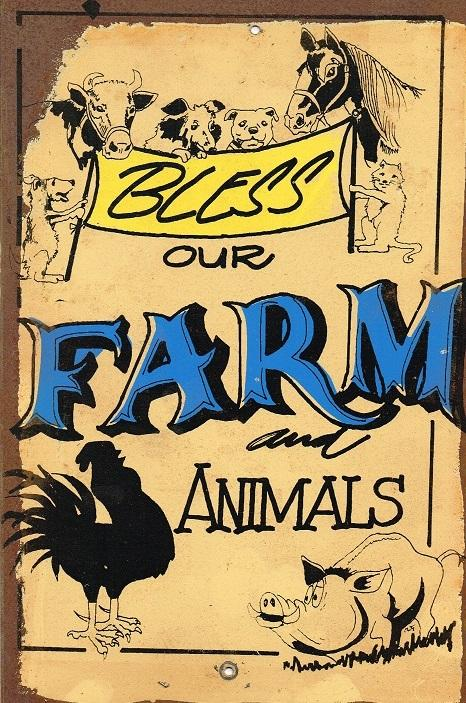 Bless our farm animals metal sign 20 x 30 cm free postage - TinSignFactoryAustralia